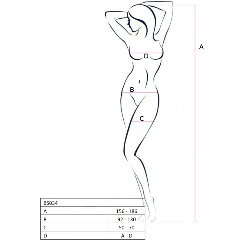 PASSION WOMAN BS034 BODYSTOCKING ONE SIZE