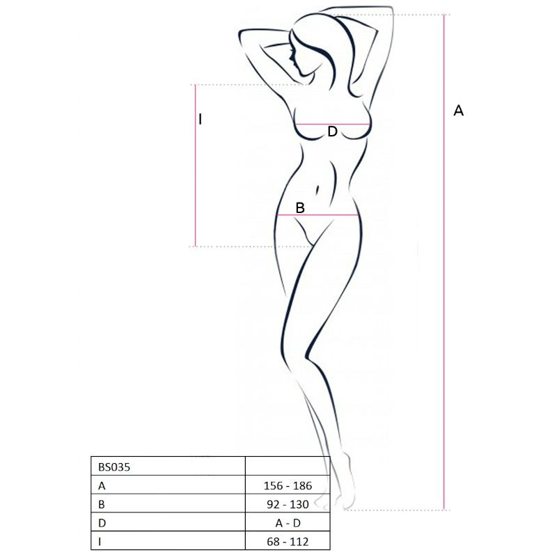 PASSION WOMAN BS035 BODYSTOCKING ONE SIZE