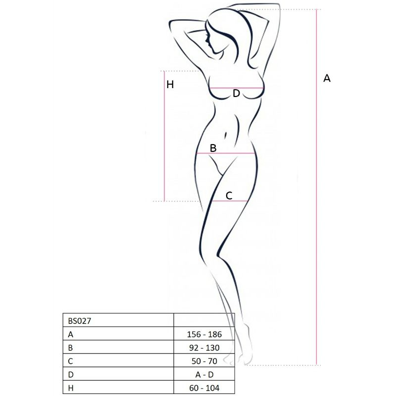 PASSION WOMAN BS027 BODYSTOCKING DRESS STYLE ONE SIZE