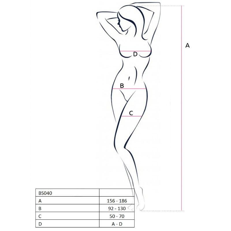 PASSION WOMAN BS040 BODYSTOCKING ONE SIZE