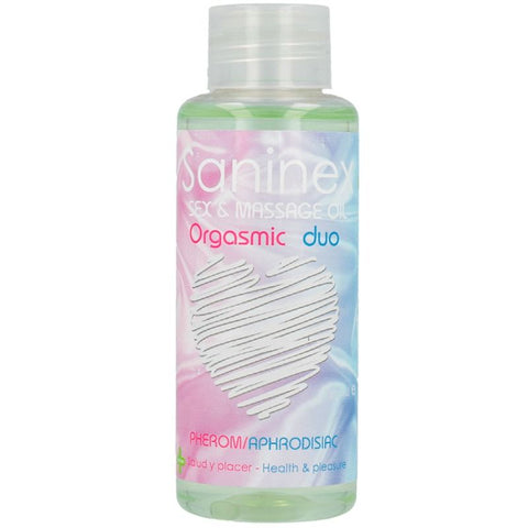 SANINEX ORGASMIC DUO SEX AND MASSAGE OIL 100 ML