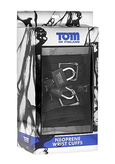 TOM OF FINLAND NEOPRENE WRIST CUFFS WITH LOCK