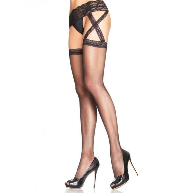 LEG AVENUE|LEG AVENUE HOSIERY - LEG AVENUE GARTERBELT STOCKINGS 6