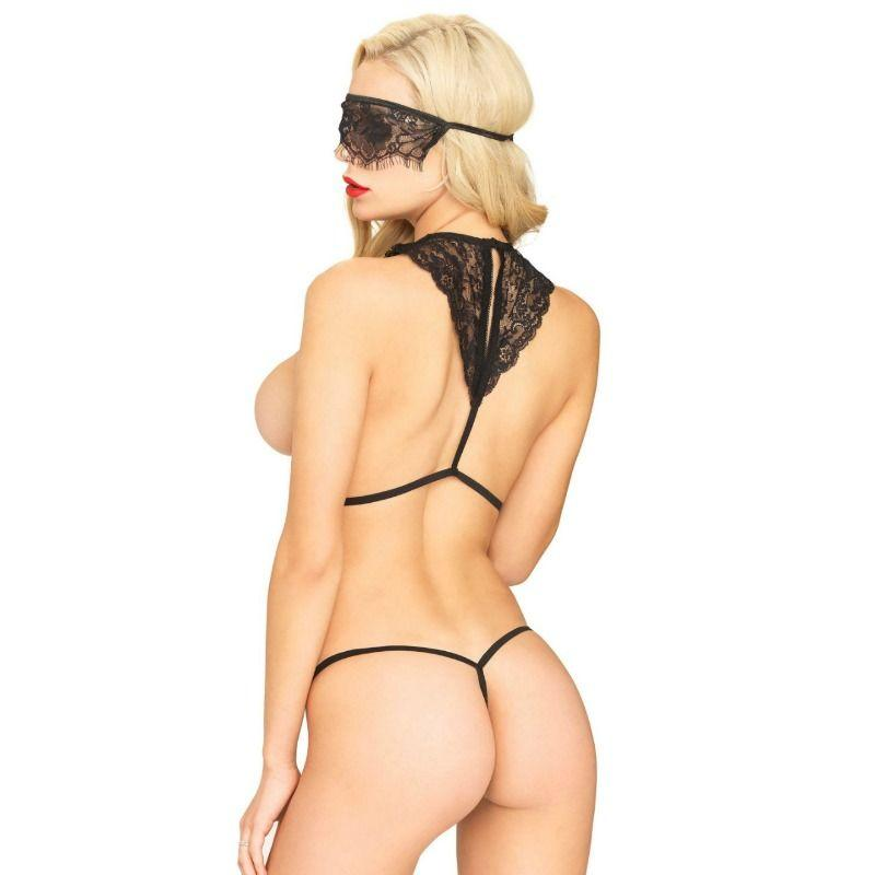 LEG AVENUE|LEG AVENUE SETS - LEG AVENUE SET 3 PCS BODY HARNESS, MASK,STRING