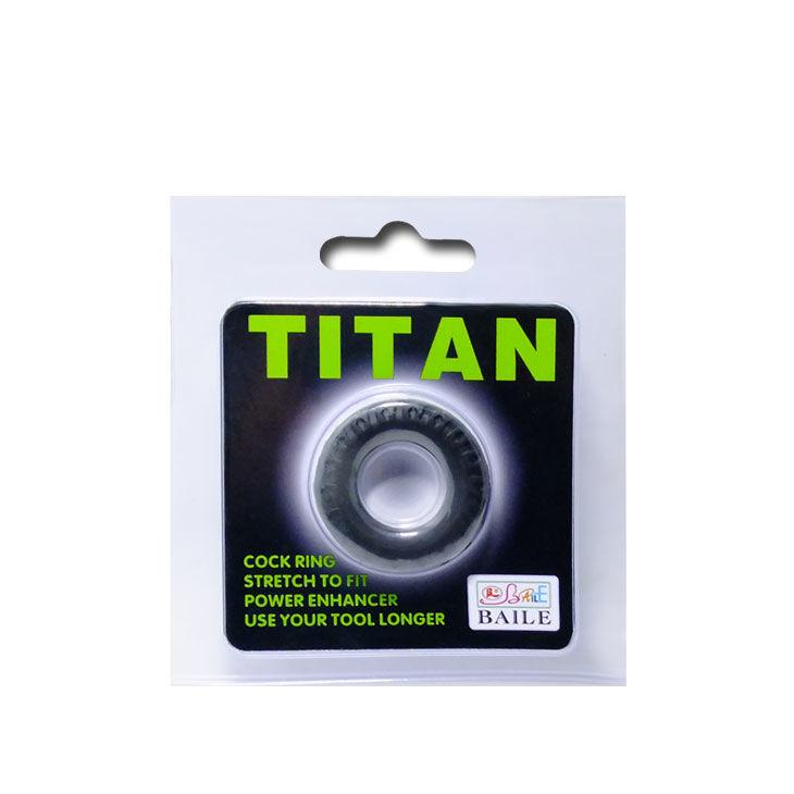 BAILE TITAN COCKRING BLACK GREEN 2CM - Lust4You