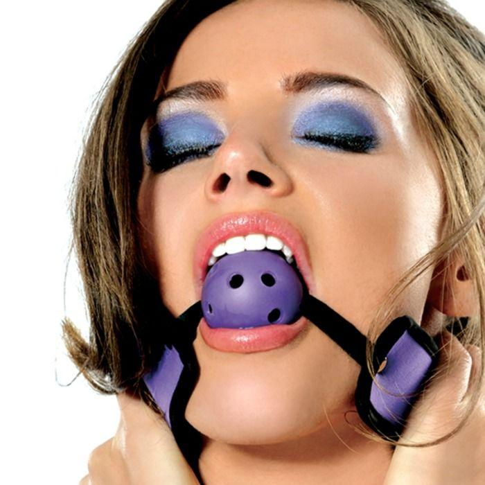 "<sale Value=""0"" /> - FETISH FANTASY BREATHABLE BALL GAG - PURPLE"