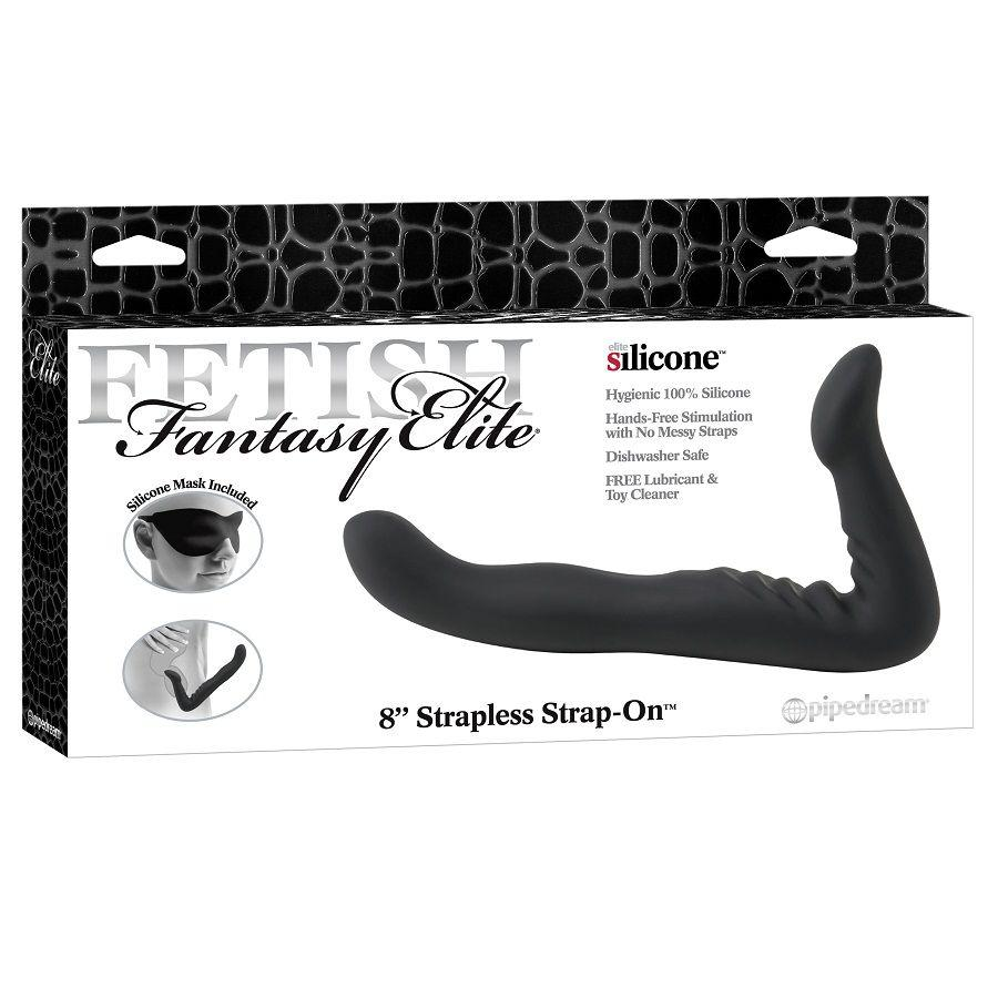 "<sale Value=""0"" /> - FETISH FANTASY ELITE 22 CM STRAPLESS STRAP-ON BLACK"
