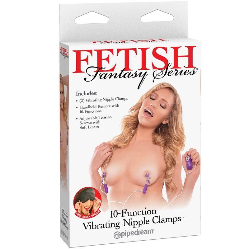 "<sale Value=""0"" /> - FETISH FANTASY SERIES 10-FUNCTION VIBRATING NIPPLE"