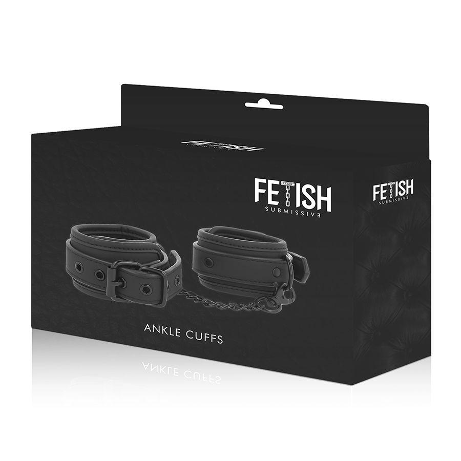 "<sale Value=""0"" /> - FETISH SUBMISSIVE ANKLE CUFFS VEGAN LEATHER"