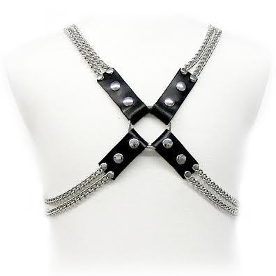 "<sale Value=""0"" /> - LEATHER BODY CHAIN HARNESS"