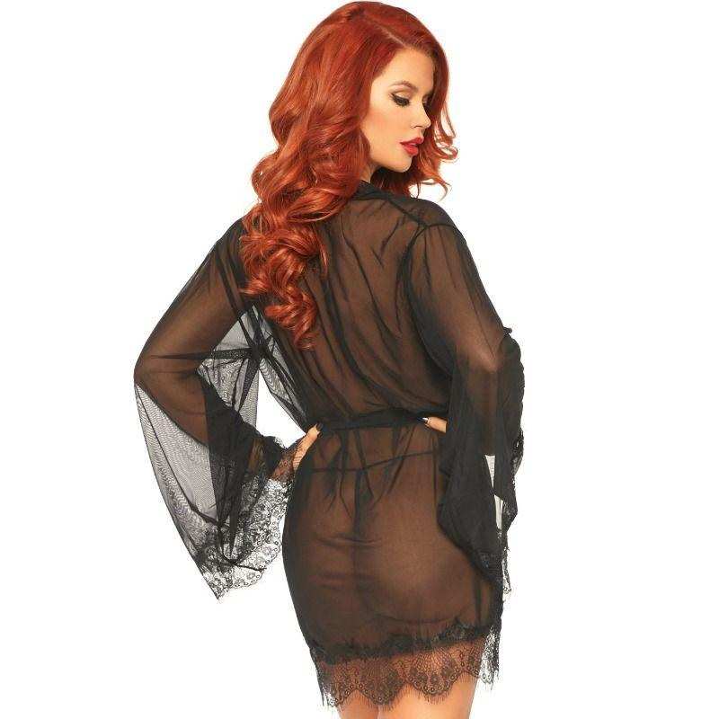 "<sale Value=""0"" /> - LEG AVENUE SHEER ROBE WITH FLARED SLEEVES"
