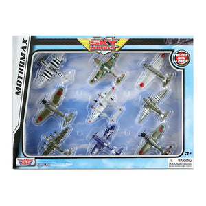 9 Piece Metal Diecast Airplane Set