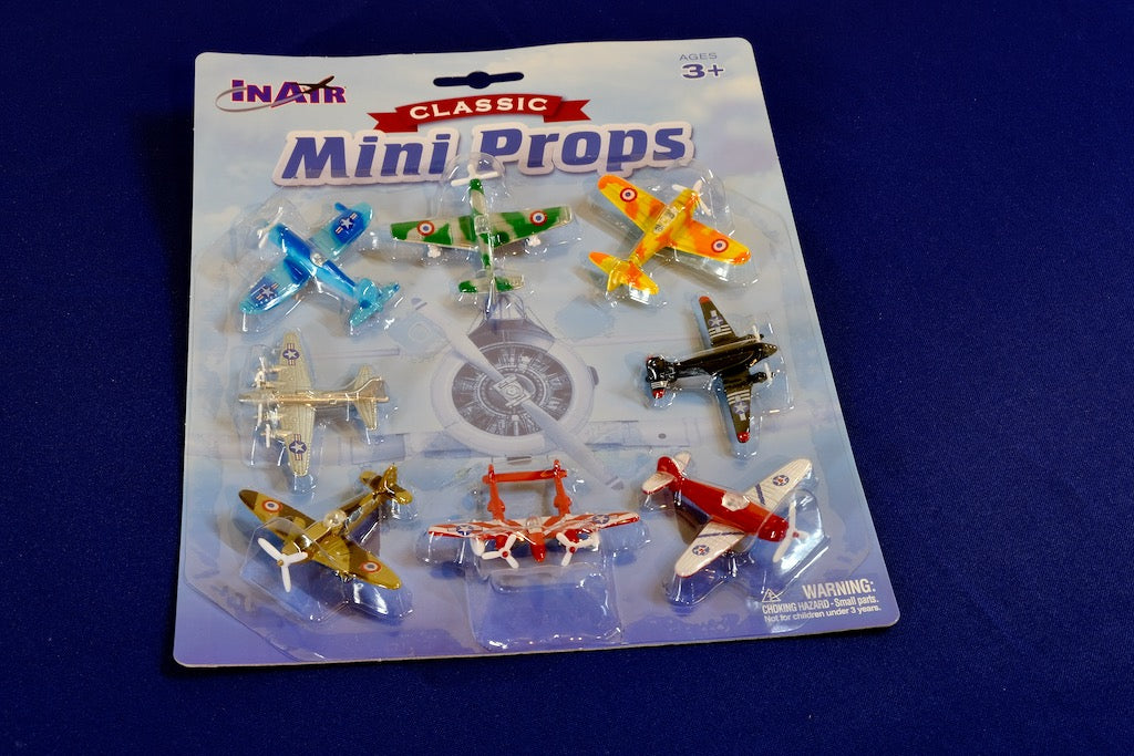Inair 8 Pack Mini Prop Airplanes