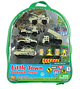 Military Vehicle Backpack Playset