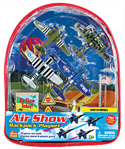 Air Show Backpack Playset