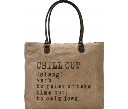 "Vintage Addiction ""Chill Out"" Recycled Military Tent Market Tote"