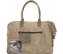 Load image into Gallery viewer, Vintage Addiction Dog Napping Recycled Military Tent Travel Bag