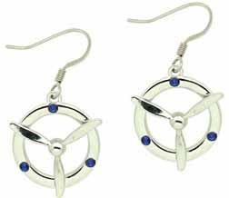 Blue Prop Earrings