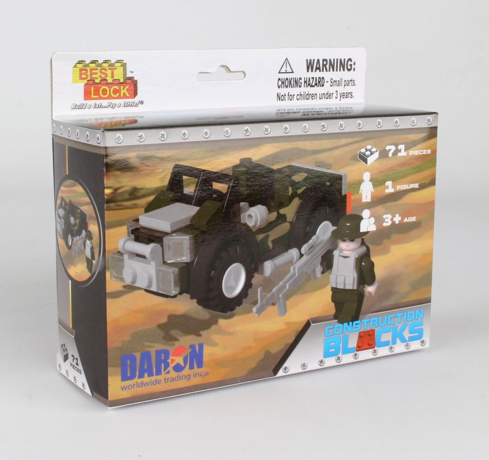Army Jeep Construction Block Kit