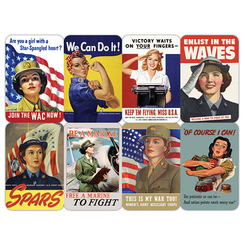 Mini Magnet Set: Women of WWII