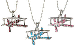 Crystal Biplane Necklace