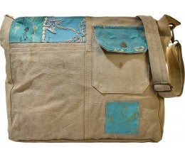 Vintage Addiction Crossbody Recycled Military Tent Bag