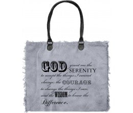 "Vintage Addiction ""God Grant"" Recycled Military Tent Market Tote"