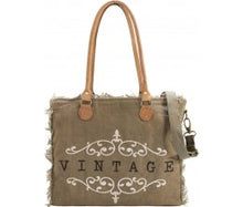 "Load image into Gallery viewer, Vintage Addiction ""Vintage"" Market Tote"