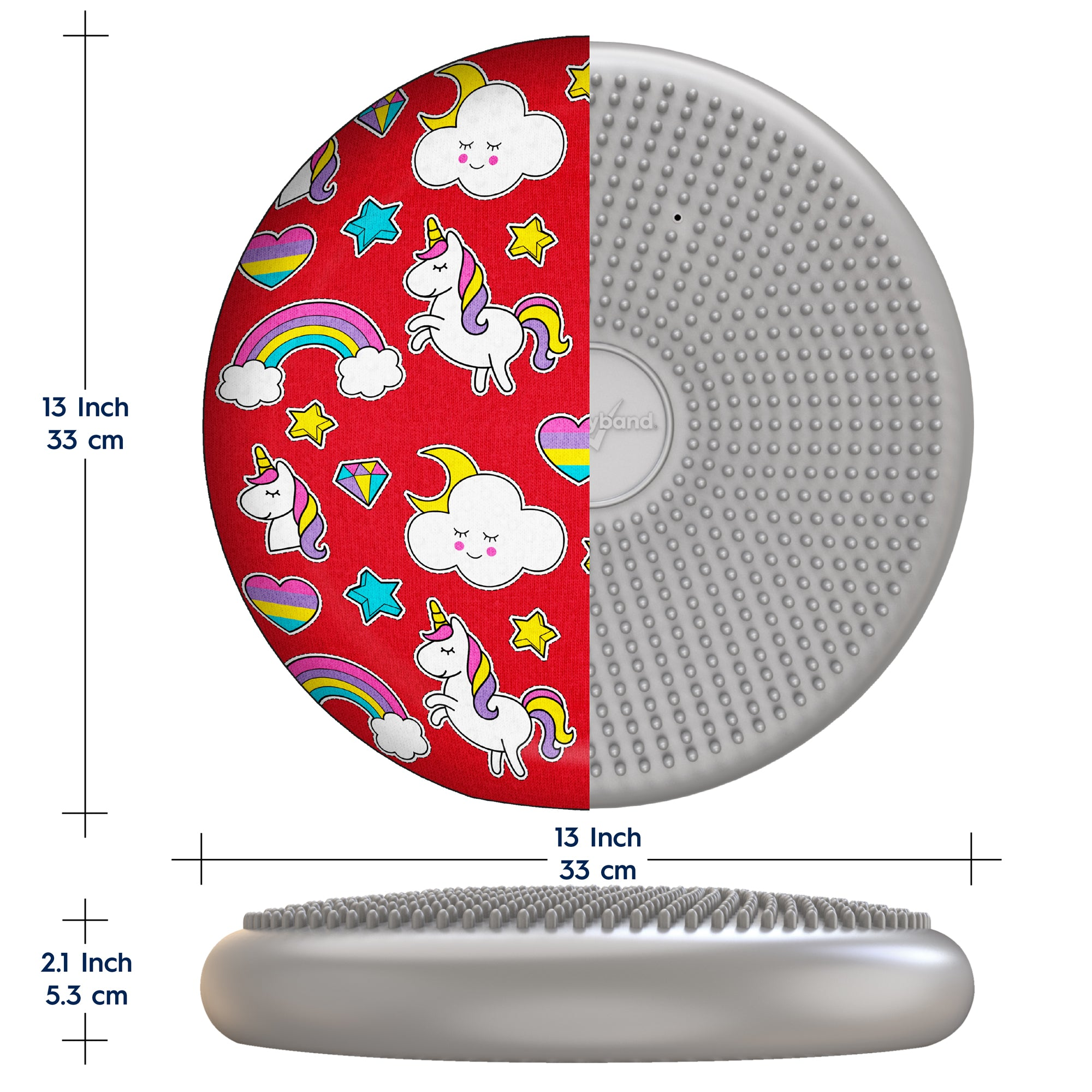 Wiggle Seat With Fun Decorative Cover Sensory Chair Cushion 33cm 13 Bouncyband Convert between the units (cm → in) or see the conversion table. usd