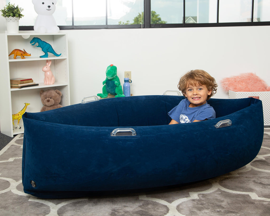 "The Fun & Comfy Hugging Peapod  60"" Ages 6-12 up to 3-5'1"" Tall          *includes electric pump & repair kit"