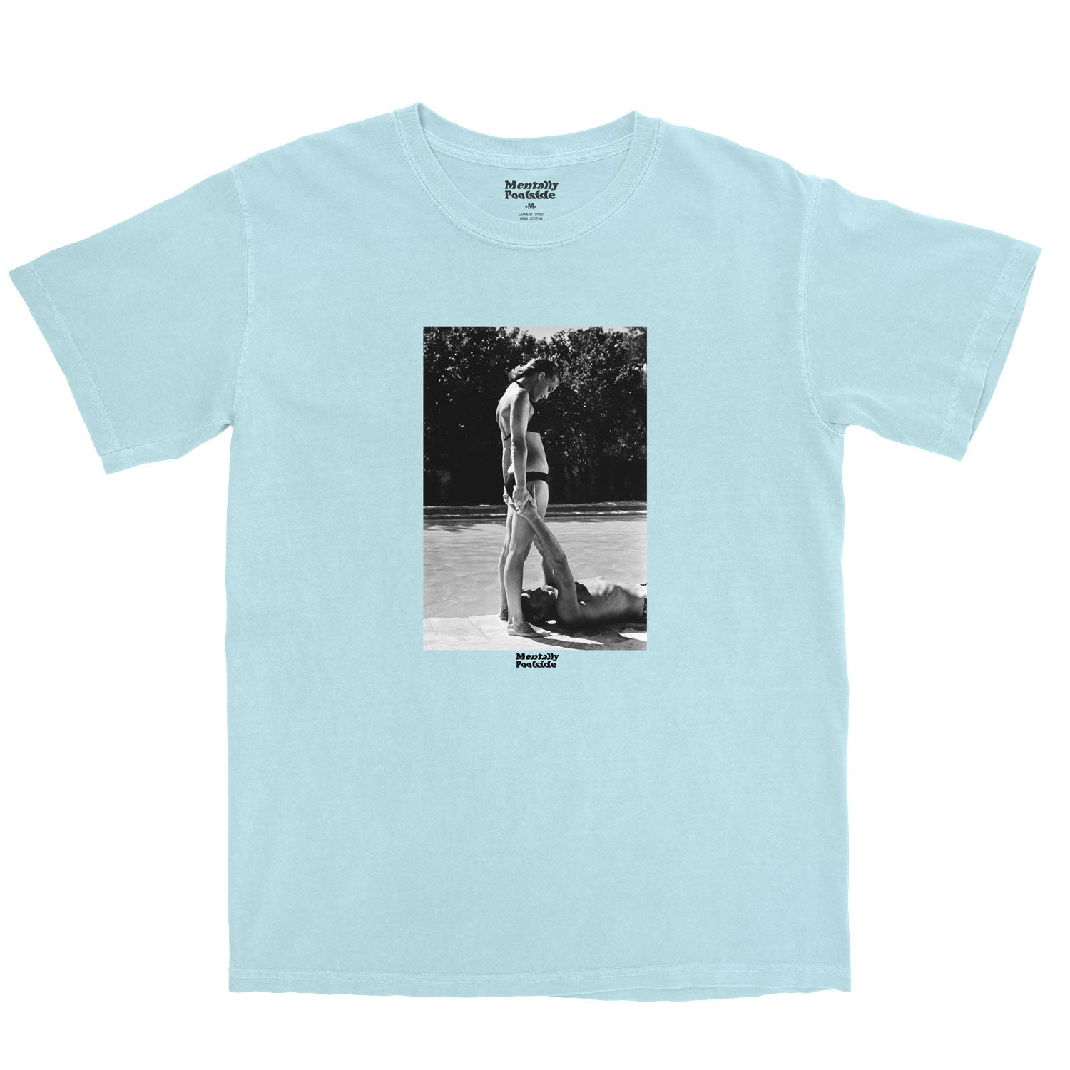 Alain De Pool-Tee shirt-Comfort colors-Chambray-S-Mentally Poolside
