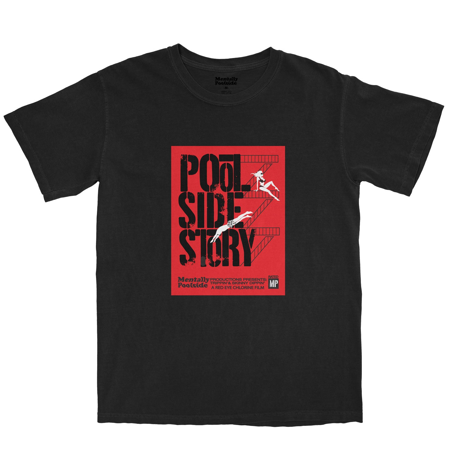 Pool Side Story-Tee shirt-Comfort colors-Black-S-Mentally Poolside