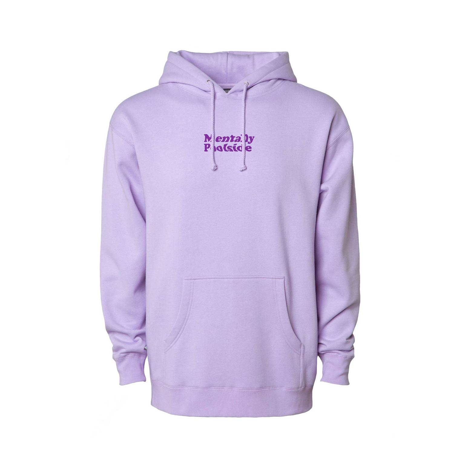 Mentally Poolside OG Heavy Weight Pullover Hoodie-Pullover Hoodie-Independent trading-Lavander Blue-S-Mentally Poolside