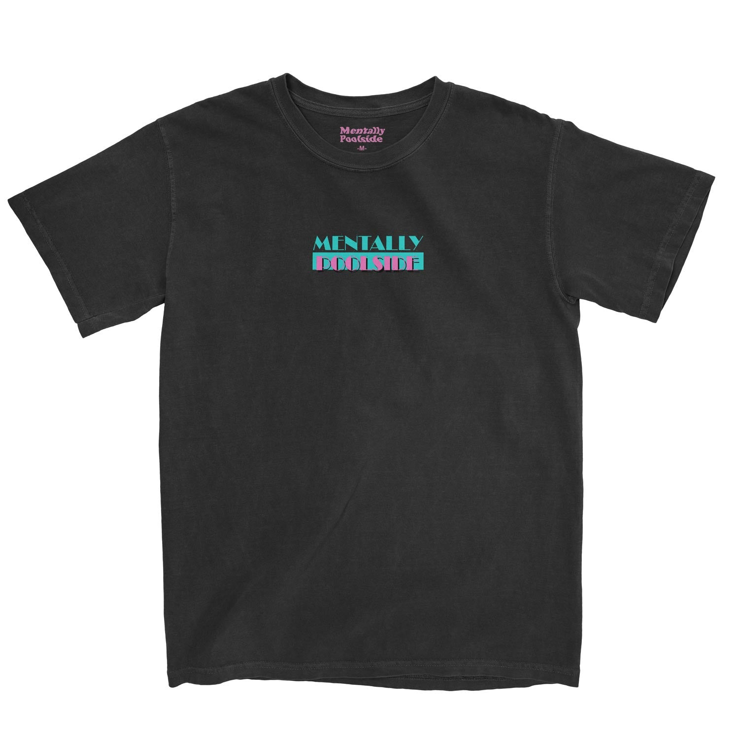 Poolside Vice-Tee shirt-Comfort colors-Black-S-Mentally Poolside