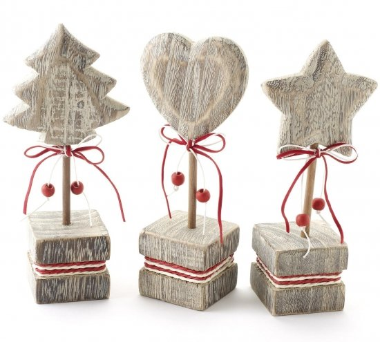 Shabby Chic Wooden Christmas Ornament
