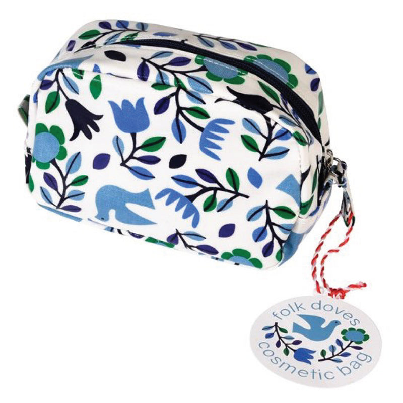 Folk Doves Cosmetic Bag