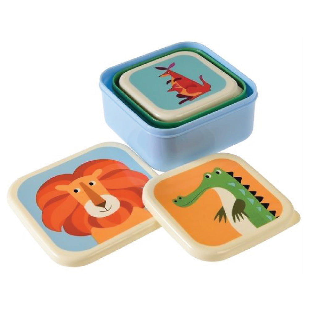 Colourful Creatures Snack Boxes (Set of 3)