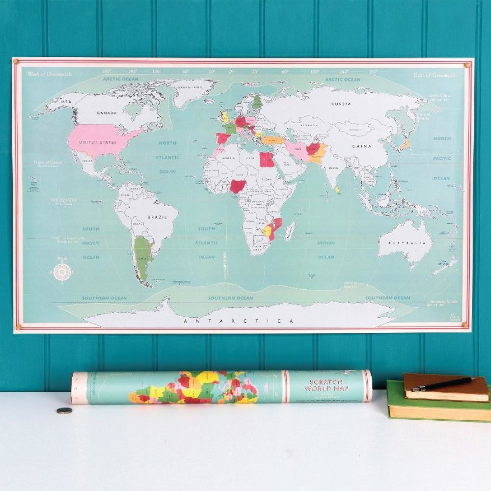 Colourful World Scratch Map