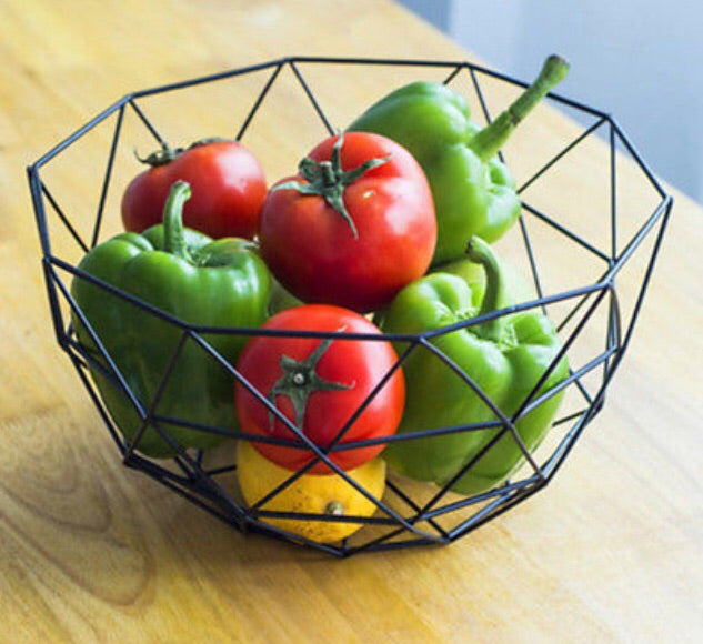 Geometric Black Wire Basket
