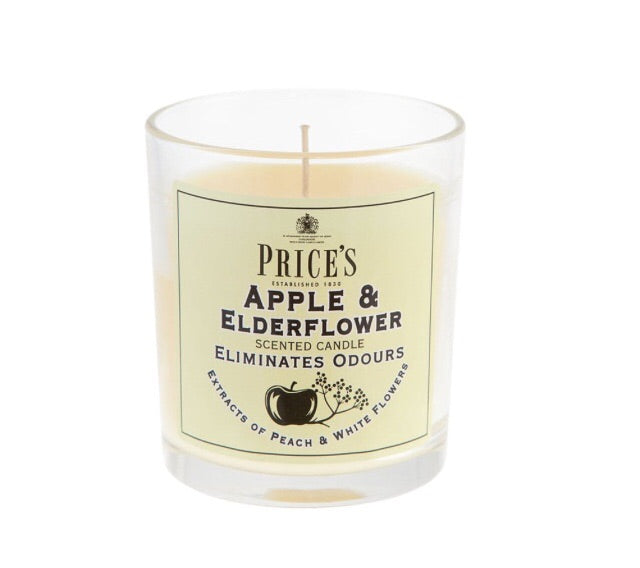 Prices Apple and Elderflower Candle