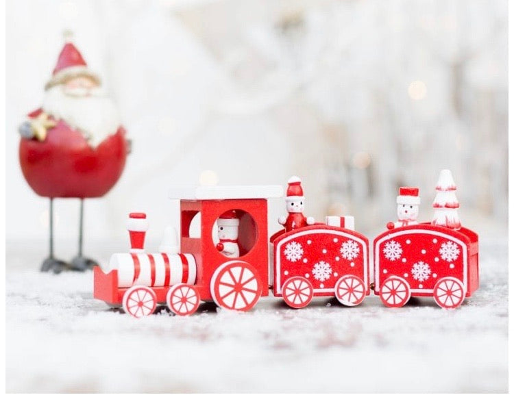 Wooden Christmas Train Decoration
