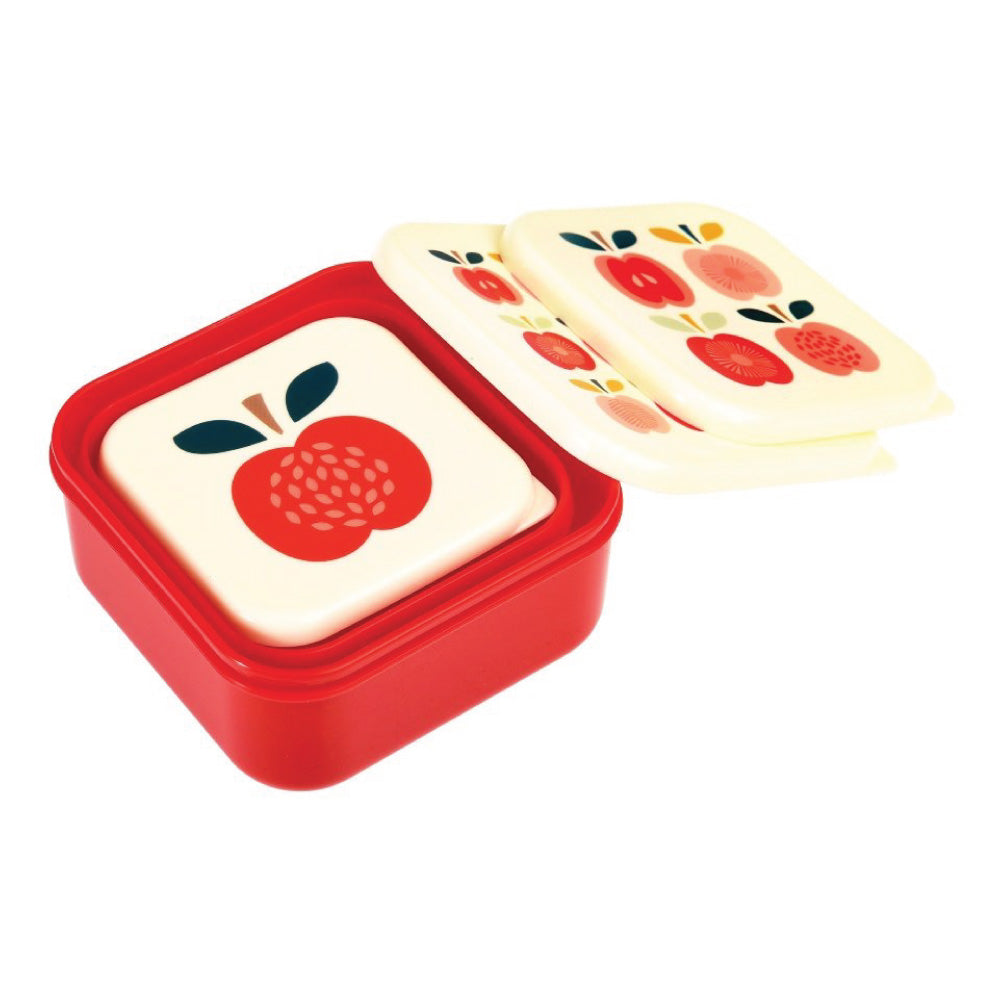 Vintage Apple Lunch Boxes Set