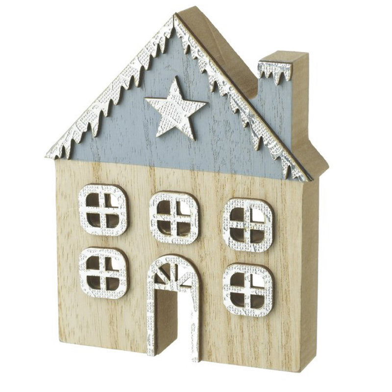 Wooden Festive House Decoration