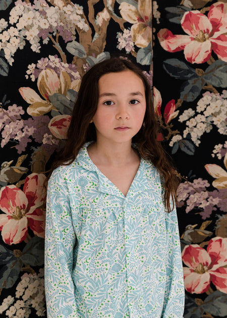 Kids Collar PJ Set: Morris Floral