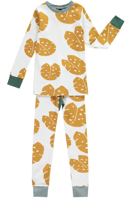 Monstera Mustard Pyjamas