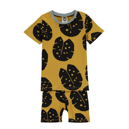 Monstera Mustard Black Short Pyjamas