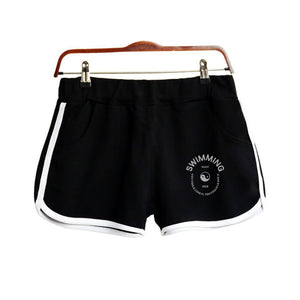 2018 Mac Miller Swimming Shorts Women Casual Cotton Short Femme Contrast Elastic Waist Shorts Fast Drying Drawstring Clothing