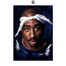 Load image into Gallery viewer, 2Pac J Cole Mac Miller 21 Savage Rapper Wall Art Canvas Painting Nordic Posters And Prints Wall Pictures For Living Room Decor
