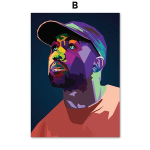 Lil Peep Mac Miller Tyler XXXTentacion Rap Star Wall Art Canvas Painting Nordic Posters And Prints Wall Pictures Kids Room Decor