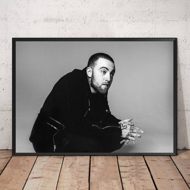 Mac Miller Music Star Poster 20x30 Inch Home Decor Celebrity Pictures Silk Fabric Cloth Poster No Frame